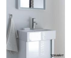 Duravit Vero Air Handwaschbecken B: 45 T: 35 cm weiß, mit WonderGliss, mit 1 Hahnloch, ungeschliffen, mit Überlauf 07244500001