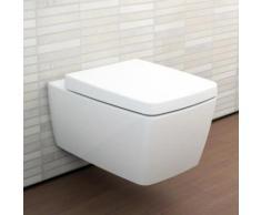 VitrA Metropole Wand-Tiefspül-WC L: 56 B: 36 cm ohne Spülrand, weiß, mit VitrAclean 7672B403-0075