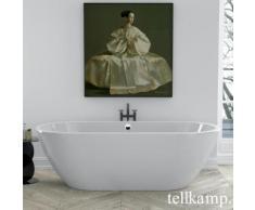 Tellkamp Cosmic Freistehende Oval-Badewanne L: 190 B: 89 H: 60 cm weiß glanz, Schürze weiß glanz, ohne Füllfunktion 0100-087-00-A/CR
