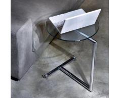 KARE Design Easy Living Beistelltisch L: 510 B: 460 H: 620 mm, chrom/klar 70629
