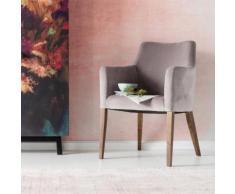 KARE Design Mode Stuhl mit Armlehnen B: 580 H: 870 T: 670 mm, nussbaum/grau 82470