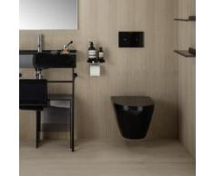 Kartell by Laufen Wand-Tiefspül-WC, spülrandlos L: 54,5 B: 37 cm schwarz H8203370200001