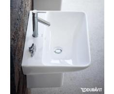 Duravit ME by Starck Waschtisch B: 60 T: 46 cm weiß, mit WonderGliss, mit 1 Hahnloch 23356000001