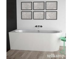 Tellkamp Pio XS R Eck-Badewanne mit Verkleidung L: 165 B: 75,5 H: 60 cm, Raumecke links weiß glanz, Schürze weiß glanz, mit Wanneneinlauf 0100-055-00-R-AUF/CR