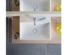 Duravit DuraSquare Handwaschbecken B: 50 T: 47 cm weiß, mit WonderGliss, mit 1 Hahnloch, geschliffen 23535000711