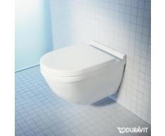 Duravit Starck 3 Wand-Tiefspül-WC L: 54 B: 36 cm ohne Spülrand, weiß, mit WonderGliss 25270900001