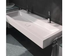 Kaldewei Cono Doppelwaschtisch B: 120 T: 50 cm weiß, mit 2 Hahnlöchern 902706043001