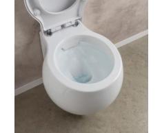 Scarabeo Planet Wand-Tiefspül-WC L: 50 B: 45 cm ohne Spülrand, weiß, mit BIO System Beschichtung 8105CLBK