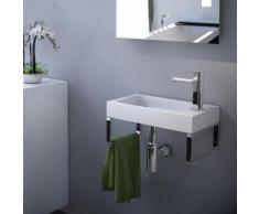 Treos Serie 710 Handwaschbecken B: 40 T: 22 cm, mit Wandkonsole 710.04.4022
