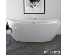 Tellkamp Spirit Freistehende Oval-Badewanne L: 180 B: 82,5 H: 74,5 cm weiß glanz, mit Wanneneinlauf 0100-083-00-AUF/CR