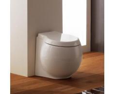 Scarabeo Planet Stand-Tiefspül-WC L: 50 B: 45 H: 41 cm weiß, mit BIO System Beschichtung 8401BK