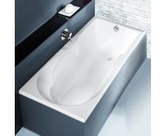 Hoesch SPECTRA Rechteck-Badewanne mit Duschzone L: 170 B: 80 H: 48 cm weiß 3665.010