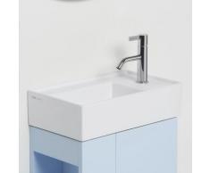 Kartell by Laufen Handwaschbecken B: 46 T: 28 cm, mit verdecktem Ablauf weiß, mit Clean Coat und 1 Hahnloch H8153344001111