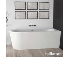 Tellkamp Pio XS L Raumspar-Badewanne mit Verkleidung L: 165 B: 75,5 H: 60 cm, Raumecke rechts weiß matt, Schürze weiß matt, ohne Füllfunktion 0100-255-00-L-A/WMWM
