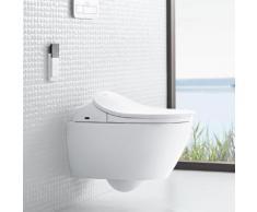 Villeroy & Boch Subway 2.0 Wand-Tiefspül-WC DirectFlush mit ViClean-L4 WC-Sitz Combi-Pack weiß mit CeramicPlus 5614L4R1, EEK: A+