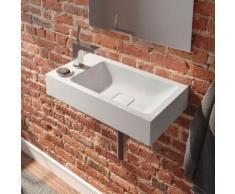 Kaldewei Cono Handwaschbecken B: 55 T: 30 cm, Becken rechts weiß, mit 1 Hahnloch 908006393001