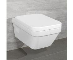Villeroy & Boch Architectura Combi-Pack Wand-Tiefspül-WC L: 53 B: 37 cm offener Spülrand, WC-Sitz weiß, mit CeramicPlus 5685HRR1