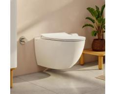 VitrA Aquacare Sento Wand-Tiefspül-WC-Set mit Bidetfunktion L: 54 B: 36,5 cm, mit WC-Sitz ohne integrierte Armatur 7748B003-6202