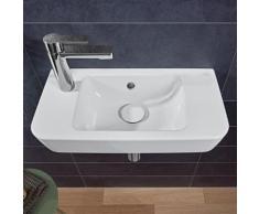 Villeroy & Boch O.novo Compact Handwaschbecken B: 50 T: 25 cm weiß, mit 1 Hahnloch links, mit Überlauf 4342L501
