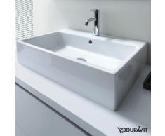 Duravit Vero Air Waschtisch B: 60 T: 47 cm weiß, mit 1 Hahnloch, geschliffen, mit Überlauf 2350600027