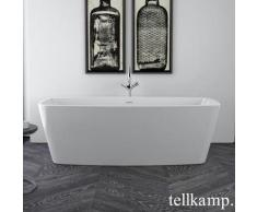 Tellkamp Arte Freistehende Rechteck-Badewanne L: 170 B: 80 H: 57 cm weiß glanz 0100-284-00-A/CR