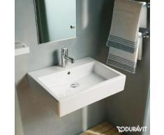 Duravit Vero Waschtisch B: 60 T: 47 cm weiß, mit WonderGliss, mit 1 Hahnloch, ungeschliffen, mit Überlauf 04546000001