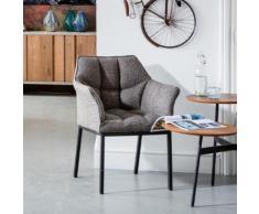 KARE Design Thinktank Stuhl mit Armlehnen B: 620 H: 850 T: 580 mm, schwarz/grau 80674