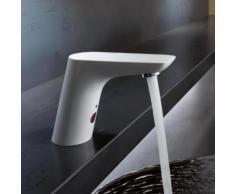 Kludi BALANCE E Elektronische Waschtischarmatur mit Temperaturregulierung batteriebetrieben, weiß/chrom 5210091