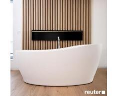 Tellkamp Sao Freistehende Oval-Badewanne L: 180 B: 85 H: 62,5 / 76 cm weiß matt, Schürze weiß matt, ohne Füllfunktion 0100-278-00-A/CRWM