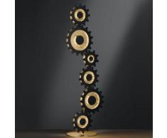 wofi Leif II LED Stehleuchte B: 38 H: 113cm, gold 3215.06.15.8301, EEK: A+
