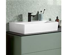 Villeroy & Boch Memento 2.0 Waschtisch B: 60 T: 42 cm weiß mit CeramicPlus, mit 1 Hahnloch, ohne Überlauf, geschliffen 4A226LR1