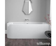 Tellkamp Thela L Raumspar-Badewanne mit Verkleidung L: 180 B: 80 H: 60 cm, Raumecke rechts weiß glanz, ohne Füllfunktion 0100-247-00-A/CR