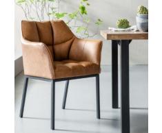 KARE Design Thinktank Stuhl mit Armlehnen B: 620 H: 850 T: 580 mm, schwarz/braun 83640