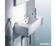 Duravit Vero Handwaschbecken B: 50 T: 25 cm, Hahnloch rechts weiß, mit WonderGliss, mit 1 Hahnloch 07035000081