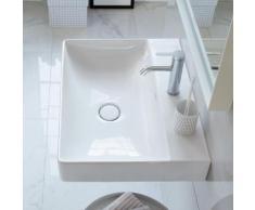 Duravit DuraSquare Waschtisch B: 80 T: 47 cm weiß, mit WonderGliss, mit 1 Hahnloch, ungeschliffen 23538000411