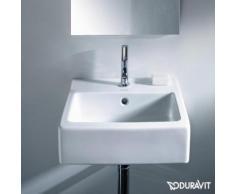 Duravit Vero Handwaschbecken B: 45 T: 35 cm weiß, mit WonderGliss, mit 1 Hahnloch, ungeschliffen, mit Überlauf 07044500001