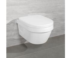 Villeroy & Boch Architectura Compact Combi-Pack Wand-Tiefspül-WC, offener Sp. L:48 B:35 cm, mit WC-Sitz weiß 4687HR01