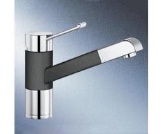 Blanco Zenos-S Einhebelmischer SILGRANIT-Look, Ausladung: 177 mm, mit Ausziehbrause anthrazit 517819