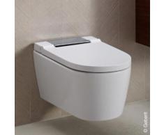 Geberit AquaClean Sela Wand-Dusch-WC Komplettanlage L: 56,5 B: 37,5 cm, mit WC-Sitz weiß/chrom hochglanz 146220211, EEK: A+