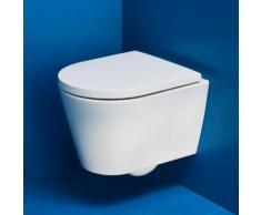Kartell by Laufen Wand-Tiefspül-WC Compact L: 49 B: 37 cm, spülrandlos weiß matt H8203337570001