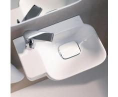 Geberit myDay Handwaschbecken B: 40 T: 28 cm, Becken rechts weiß, mit KeraTect 125440600