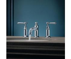 AXOR Montreux 3-Loch-Waschtischarmatur 30 mit Hebelgriffen mit Ablaufgarnitur, chrom 16535000