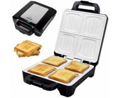Muschel Sandwichmaker XLC mit Keramikplatten Thermostat und Edelstahldekor - Syntrox Germany -