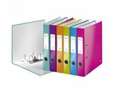 1006 Ordner WOW A4 - 50 mm, sortiert (pink, blau, eisblau, grün, orange, violett)