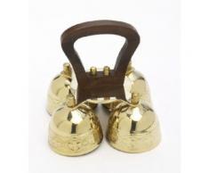 Glocke, Altarglocke mit Holzgriff, 4-Klang, Messing