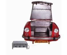 SIT Carbecue aus roter PKW-Front mit Gasgrill