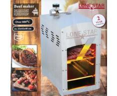 Lonestar 800°C Beef Burner gasbetrieben | 100% Steak House Qualität | Edelstahl | einfache Bedienung | Hochtemperatur Gasgrill | Beef Grill | Beefmake
