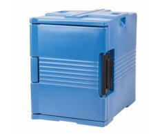 Thermobehälter Frontlader ES12, blau, 12 Paar Auflageschienen, BASICLINE ETERNASOLID®