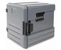 Isolier-Transportbox, -40° bis +100°C, Frontlader, 12 Einschübe, 83 Liter, grau, BxTxH 450 x 625 x 575 mm, Polyethylen (PE-HD/EPS)