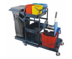 Reinigungswagen Profi Kunststoff Müllsackständer 120 Liter